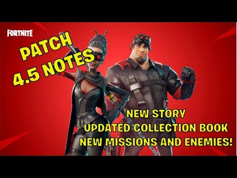 Fortnite STW Patch 4.5 Notes