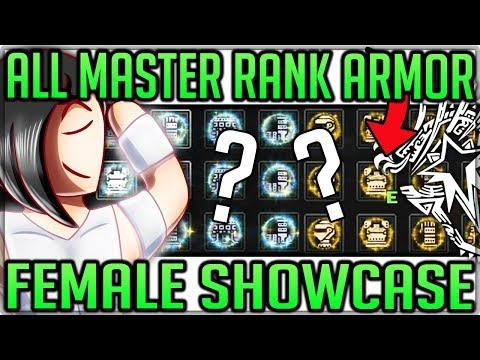 All Master Rank Armor Sets Showcase - Female - Monster Hunter World Iceborne! #iceborne #masterank
