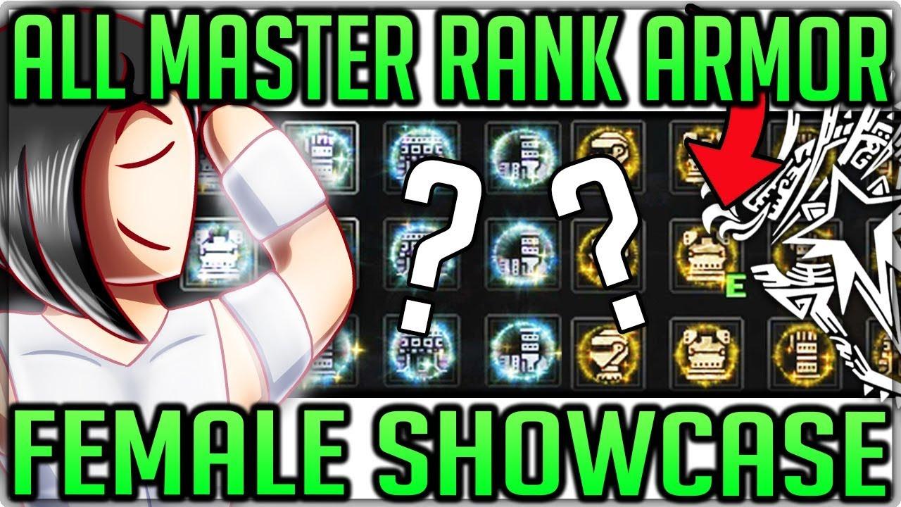 All Master Rank Armor Sets Showcase Female Monster Hunter