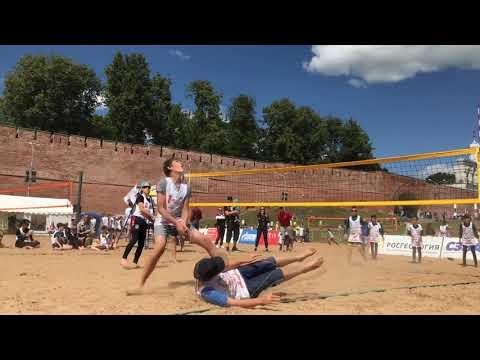 Пляжный волейбол Великий Новгород 29.06.2019 Отборочный тур мальчики 2007-2008 2 игра