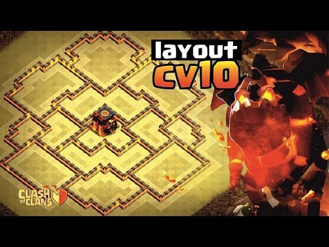 MELHOR LAYOUT CV10 GUERRA 2018 ANTI LAVALOON + REPLAY | BEST TH10  WAR ANTI BOWLER | CLASH OF CLANS