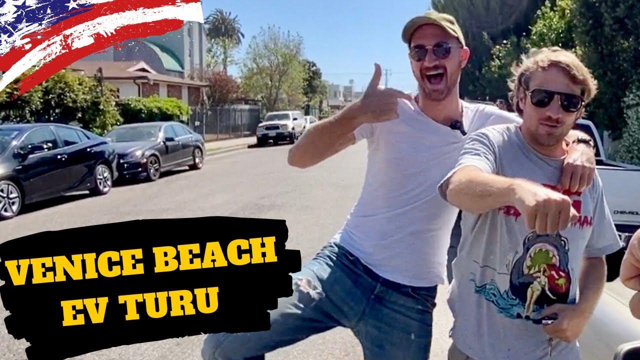 Amerika'da Okyanus Kenarı VENICE BEACH Ev Turu    w/ @Oguz Kutman @Anıl Güler