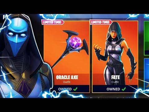 New Omen Skin Oracle Pickaxe Unlocked Fortnite Battle Royale Live New Skins Gameplay