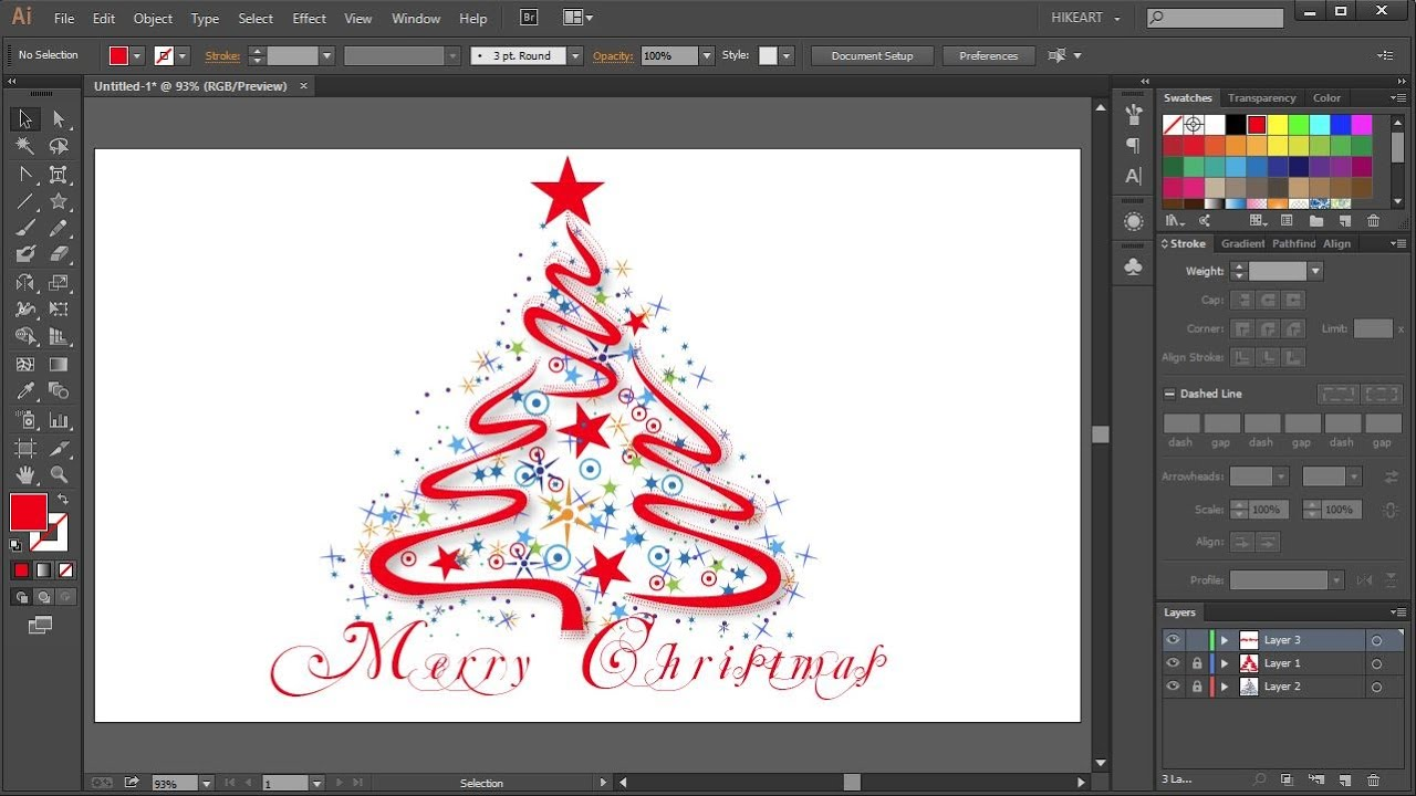 Christmas In The Adobes 2020 How to Draw a Christmas Tree in Adobe Illustrator   2   YouTube