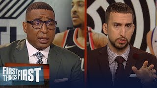 Blazers need to adjust their defense on Curry in Game 2 - Nick Wright | NBA | FIRST THINGS FIRST