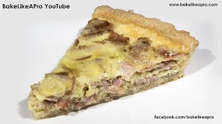 EASY And YUMMY Black Forest Ham And Onion Quiche Recipe