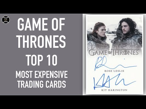 Top 10 Most Expensive Game Of Thrones Trading Cards Sold On Ebay (March - May 2019)
