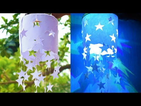 How to make Star Paper LampShades