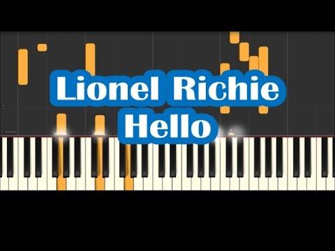 Lionel Richie Hello Piano Cover Instrumental