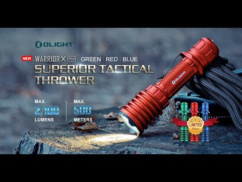Senter Olight Warrior X Pro RGB 2100 Lumens Limited Edition Rechargeable Flashlight LED