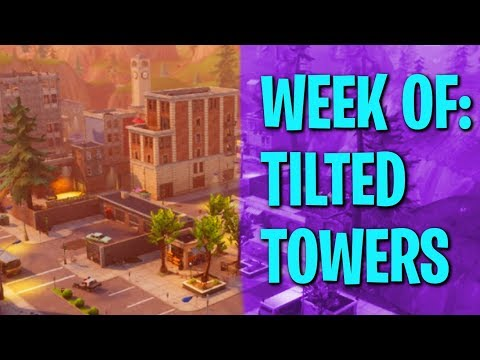 Fortnite Battle Royale Week of Tilted Towers #1  Ride-Along (Tips and Tricks)