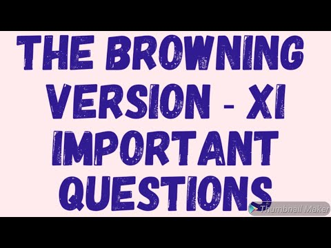 THE BROWNING VERSION  XI   SHORT QUESTIONS   IMPORTANT QUESTIONS   TARAN SIR CLASSES 