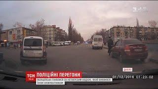 У Дніпрі нетверезий водій втікав від поліції та розбив службове авто