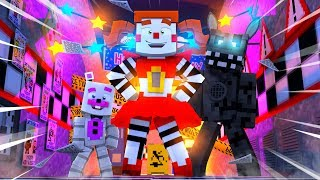Circus Baby Meets Helpy and Twisted Wolf! Minecraft FNAF Roleplay