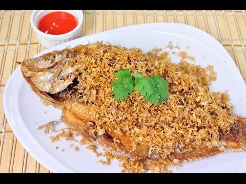 Thai food fried tilapia with garlic pla tub tim tod kra tiam thai food fried tilapia with garlic pla tub tim tod kra tiam youtube forumfinder Images