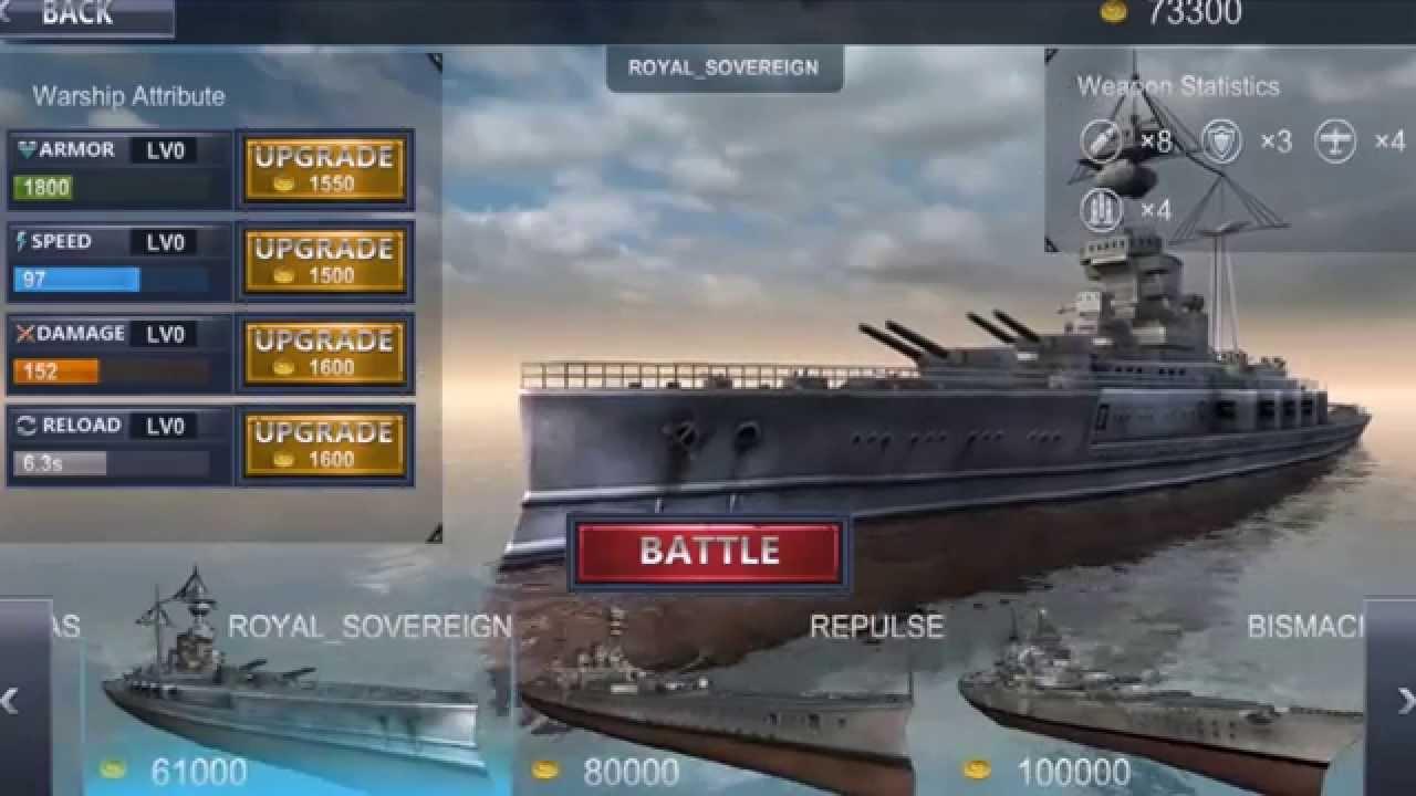 Sea Battle: Warships (3D) v 1 6 2 (Mod Money) » Lenov