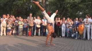 Видео-отчет Уличная капоэйра под барабаны. Фестиваль Творец 2013