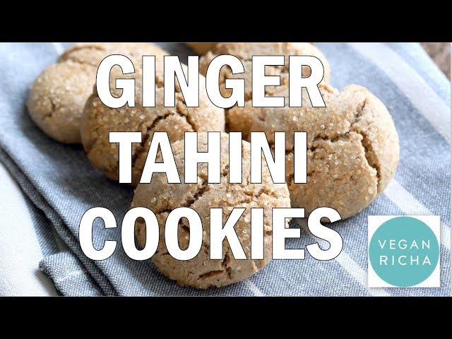 Ginger Tahini Cookies - 1 Bowl | Vegan Richa's Everyday Kitchen Book Recipe