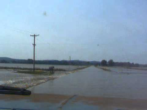 Flood of 2008 Salt River Pike County Missouri Highway 79 Part 2