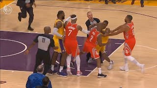 Brawl/Fight Lakers Vs. Rockets (10/20/19 | Home Opener)