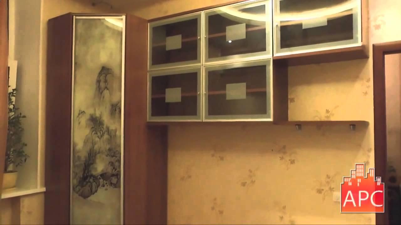 Угловой шкаф с полками в спальне с печатью рисунка на стекле - YouTube