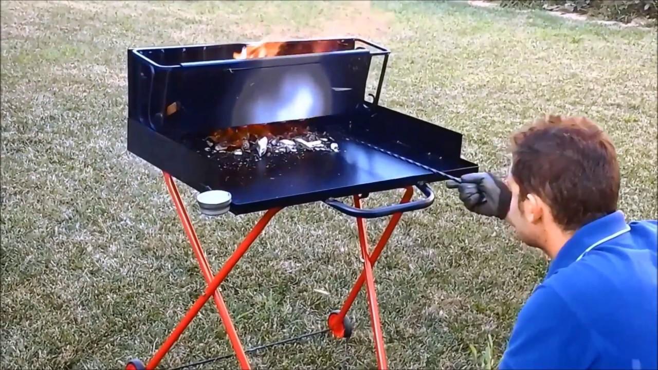 Barbecue a legna efficente ed economico youtube for Barbecue fai da te in ferro