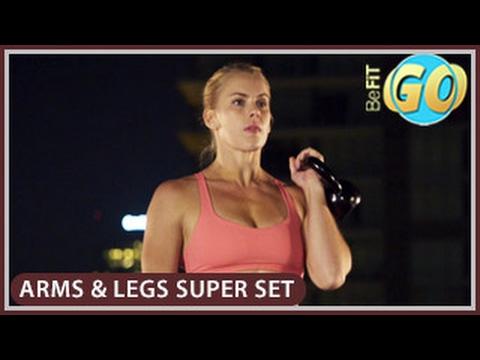 Arms & Legs Super Set Mobile Workout: BeFiT GO- 10 Mins