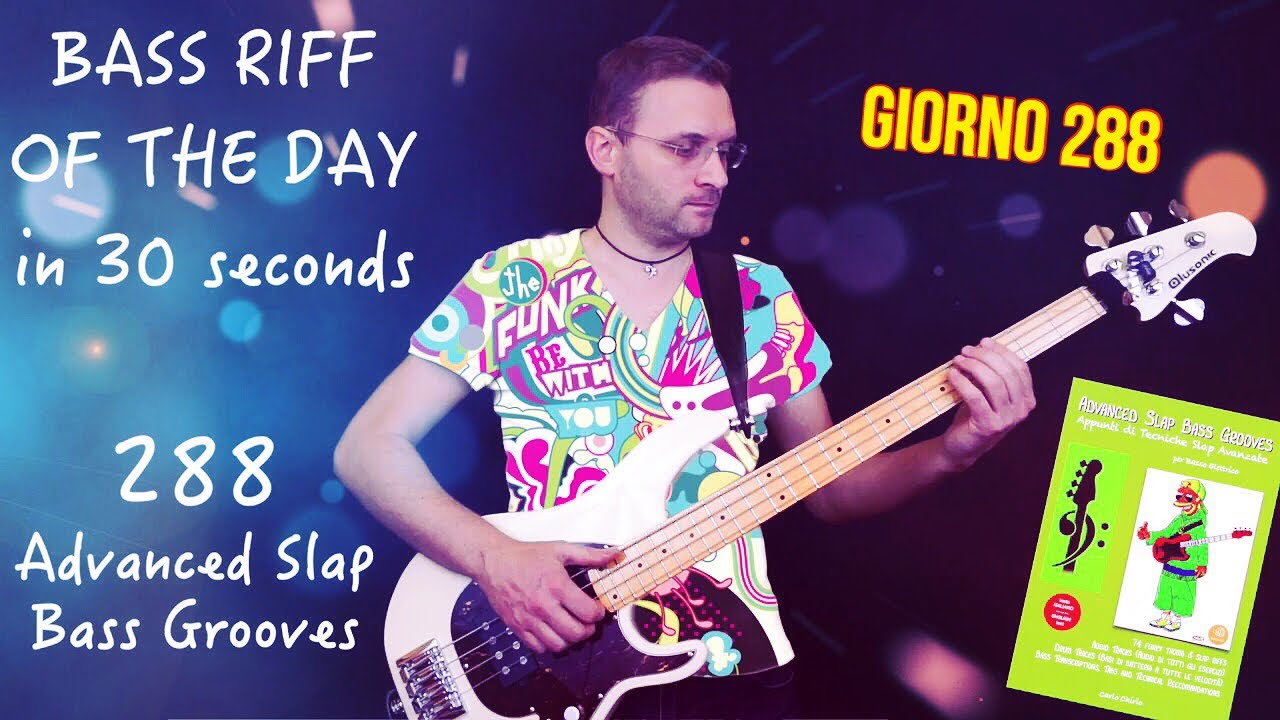 Advanced Slap Bass Grooves Bass Riff Of The Day In 30 Seconds #d288