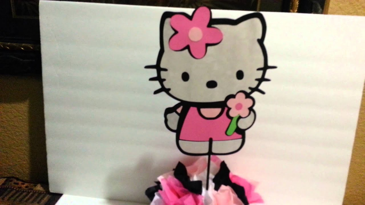 Hello Kitty Table Centerpiece   YouTube
