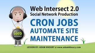 8. Cron Job Automate Social Network Web Site Maintenance PHP Tutorial Mp3