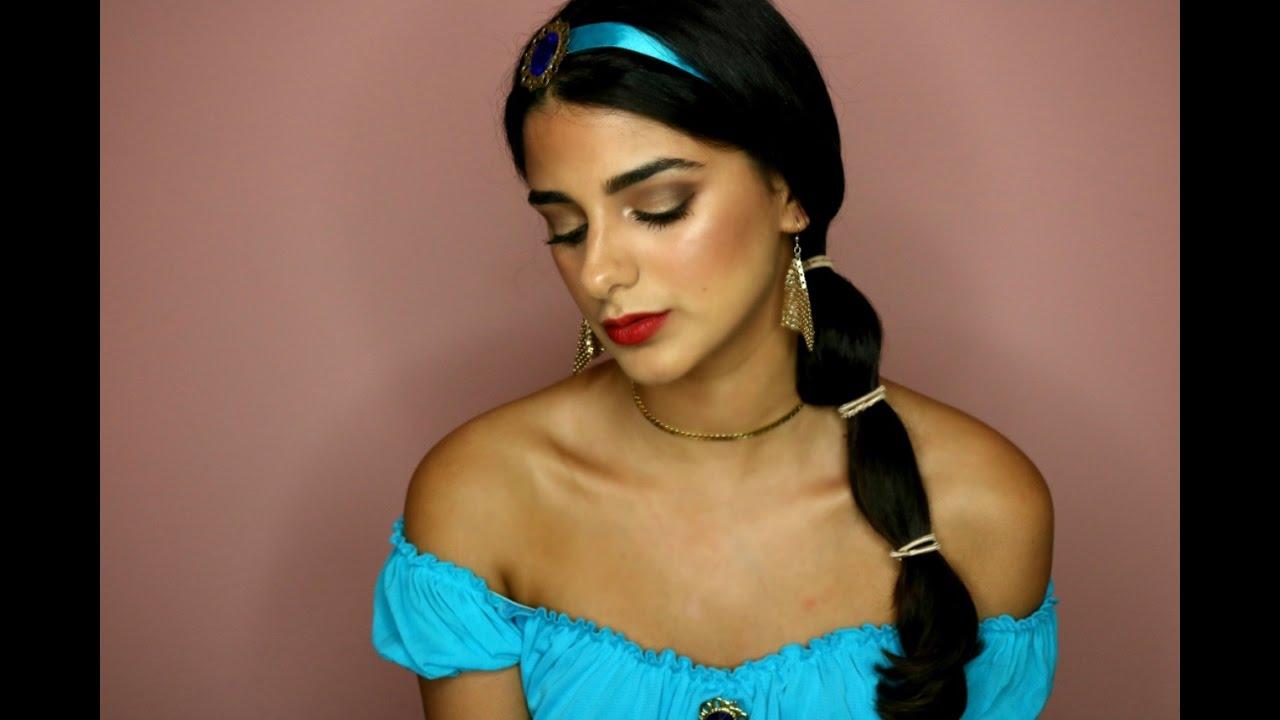 Disney Inspired Makeup Tutorial - Princess Jasmine - YouTube