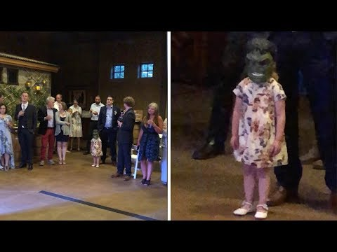 Don Action Jackson - Little Girl Watches Wedding First Dance In HULK Mask