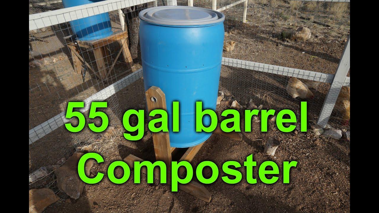 Easy Barrel Compost Tumbler - YouTube