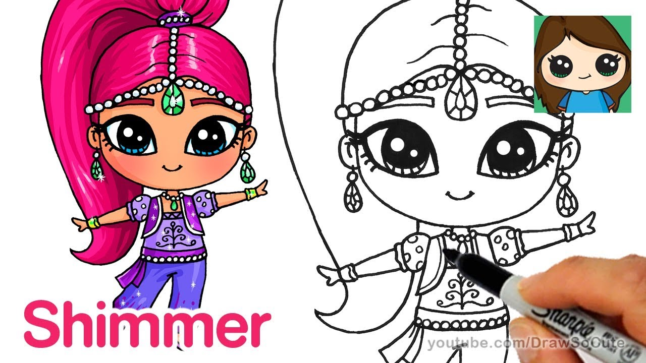 Betere How to Draw Shimmer | Shimmer and Shine - YouTube QH-41