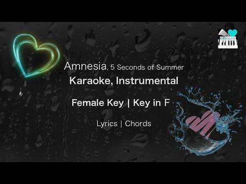 Amnesia by 5 Seconds of Summer Karaoke Instrumental in Female Key