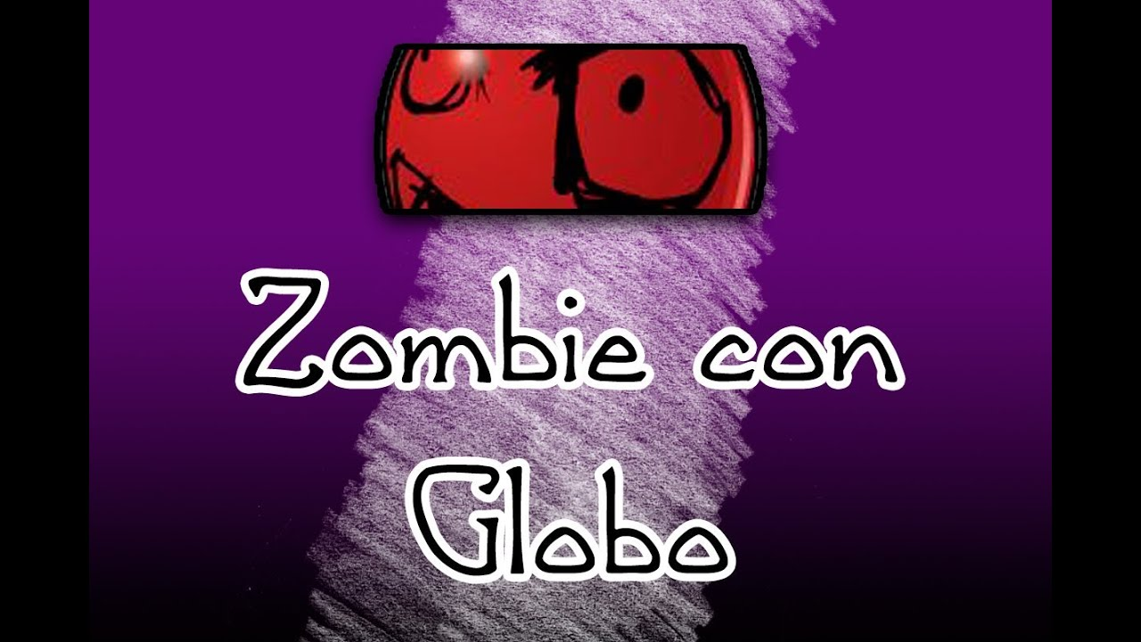 Dibujo r pido zombie con globo youtube for Decoracion con globos plantas contra zombies