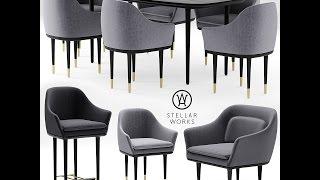 Моделинг стульев, стола и кресла Autodesk 3ds Max & marvelous designer