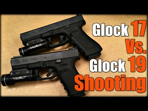 Glock 17 Vs  Glock 19 Shooting - YouTube