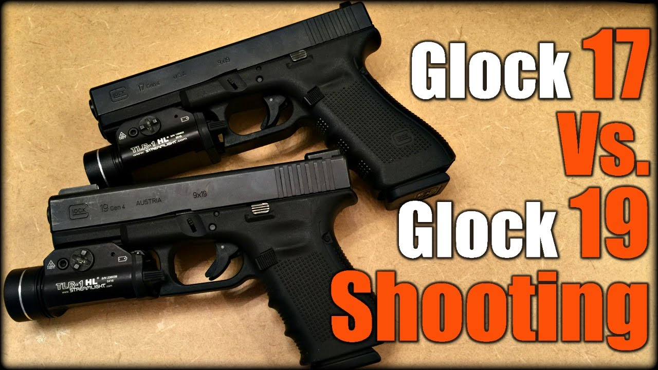 Glock 17 Vs. Glock 19 Shooting - YouTube