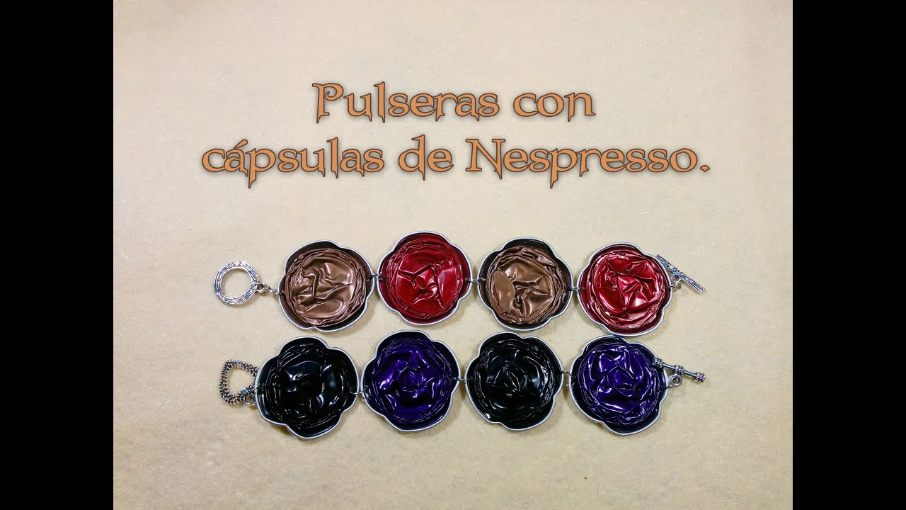 diy pulseras con c psulas nespresso capsules bracelet recycling youtube. Black Bedroom Furniture Sets. Home Design Ideas