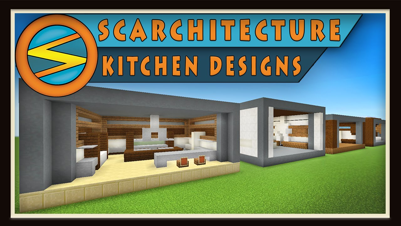 Minecraft Five Modern Kitchen Designs Scarchitecture Ep 1