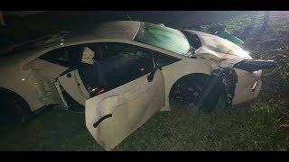 Dashcam crash video of the Lamborghini Huracan goonzquad is rebuilding.