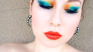 LOOK: ELECTRIC BLUE & ORANGE PARTY MAKEUP Thumbnail