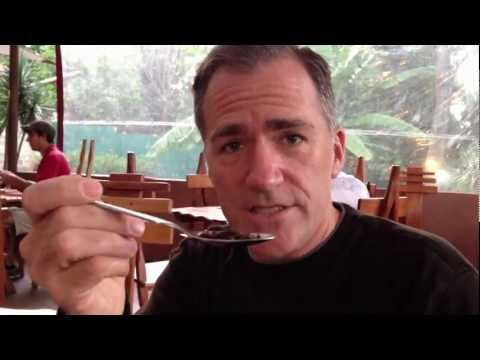 Mike Elgan eating flying white African ants.... It's what's for dinner.