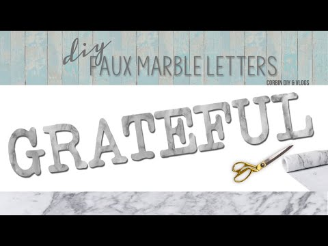 DIY Faux Marble Letters Make anything look like real marble Perfect Home Decor Ideas