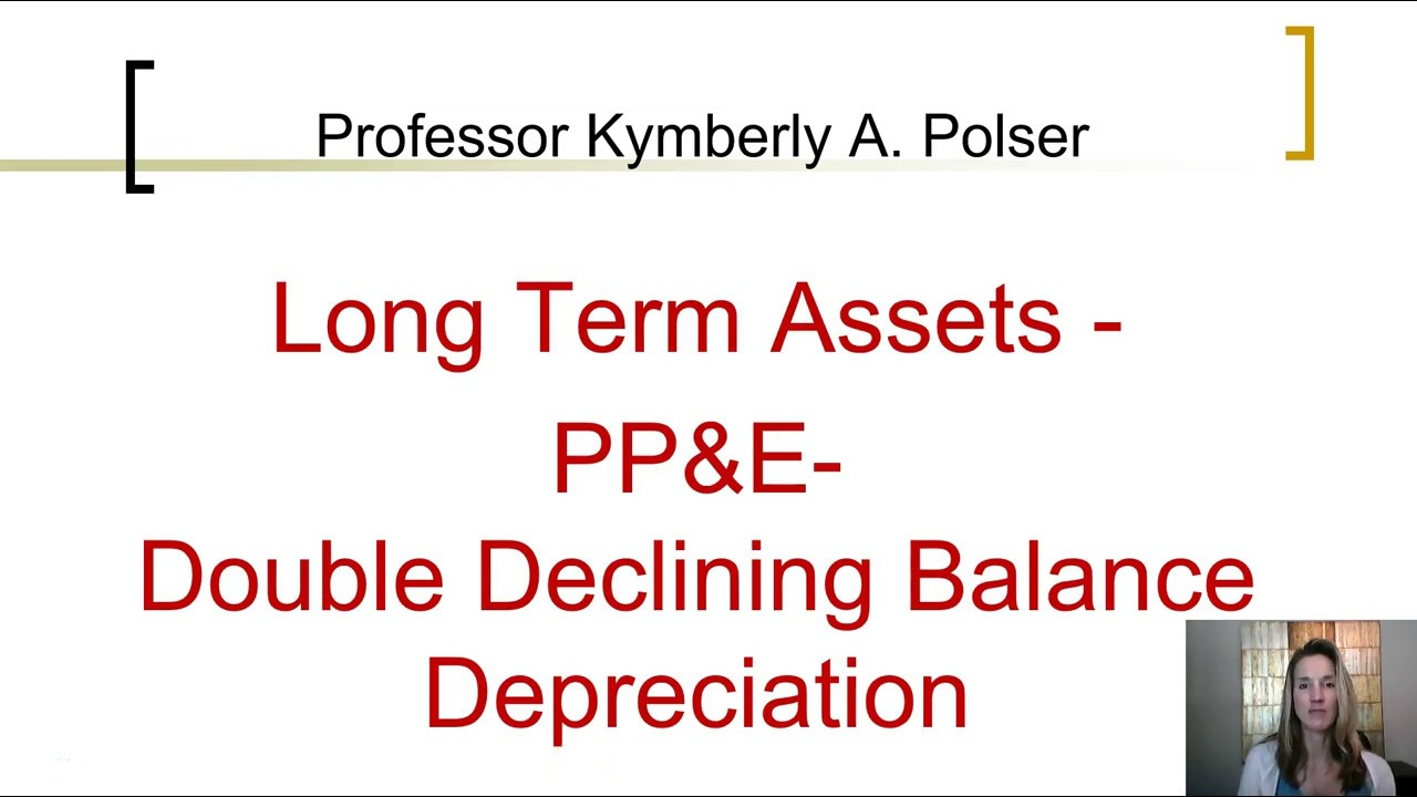 Depreciation Double Declining Balance Method ch10 - YouTube