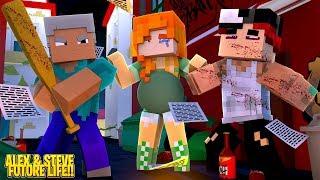 Steve BEATS UP pregnant Alex's husband for cheating!! Minecraft Life of Alex & Steve