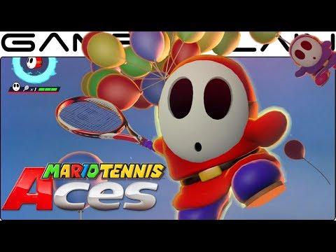 Mario Tennis Aces - Shy Guy Gameplay + Special Shot (December Co-Op Tournament Reward!)