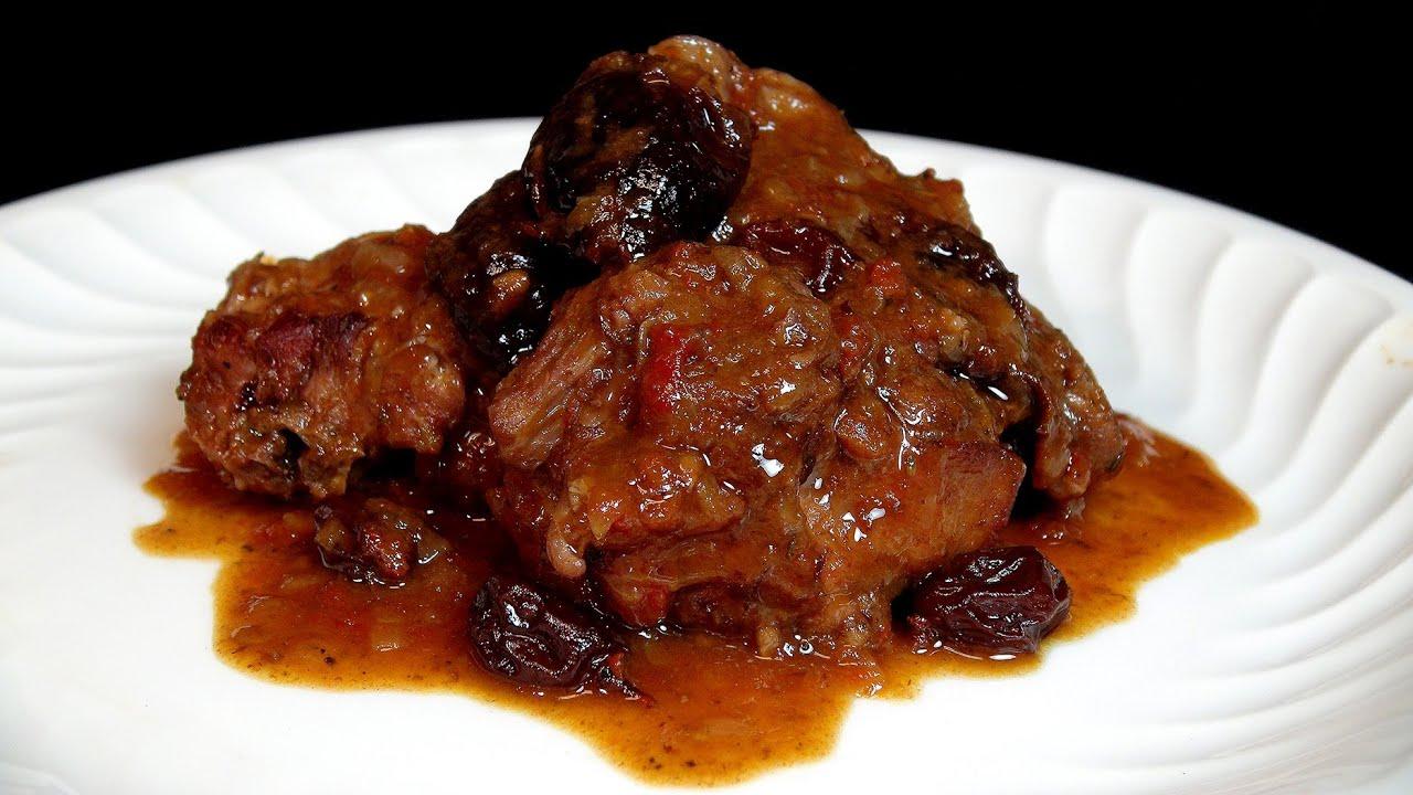 Guiso de conejo con ciruelas y pasas recetas de carnes - Guiso de carne de cerdo ...