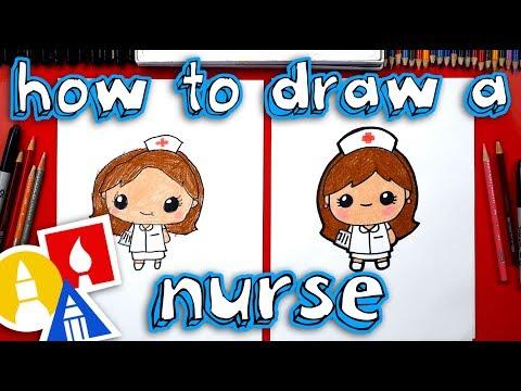 How To Draw Cartoon Nurse